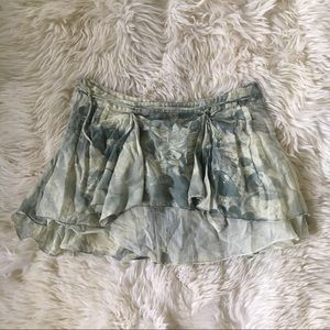 Stella McCartney green cotton light shear skirt 40